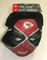 """Kansas City Chiefs NFL """"Fan Face"""" Mask Rally Cap Black Hat w/ Red/Mask Mask NWT"""