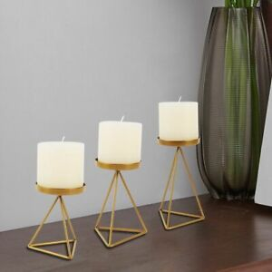 1PC Nordic  Wrought Iron Geometric Candle Holder Triangle Candlestick Rack