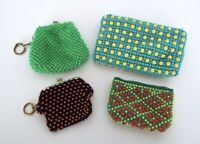 Vintage Beaded Coin Purse Collection Japan Mid Century Modern 4 Piece Estate Lot