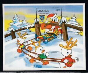 GRENADA Christmas 1984 & Donald Duck MNH souvenir sheet