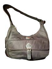 Tommy Hilfiger Black flag logo CANVAS Hobo Satchel Purse Shoulder Bag handbag