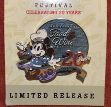 Disney Epcot Food & Wine Festival 2015 20th Anniversary Mickey Mouse Lr pin