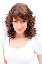 Damen Perücke Romantik brünett braun gelockte Spitzen halblang 45 cm MC008-2T30