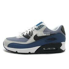 Nike Air Max 90 Essential [537384-042] NSW Running Grey/Black-New Slate-Blue