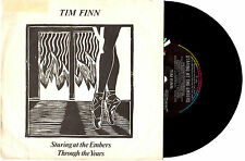 "TIM FINN (SPLIT ENZ) - STARING AT THE EMBERS - 7"" 45 VINYL RECORD PIC SLV 1983"