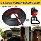 10M/32FT Car Door Rubber Seal Weatherstrip Hood Trunk Trim Edge Guard Strip