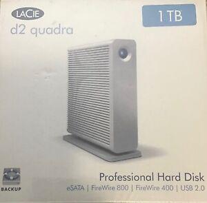 LaCie d2 quadra Professional Hard Disk 1 TB FireWire 800 400 New in Sealed Box