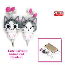 Cat Headset Cute Cartoon Headphone Earphone For Girl iPhone / Samsung / Xiaomi