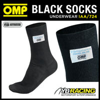 IAA/724 OMP KNITTED NOMEX RACING FIREPROOF SOCKS BLACK SIZES XS to XL