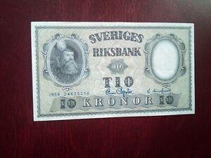 SWEDEN - 10 KRONOR 1959 - BANKNOTES