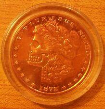 Morgan Skull Dollar..(Copper)