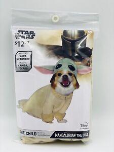 Star Wars Disney Mandalorian Baby Yoda Dog Cat Pet Halloween Costume Size Large