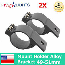 49-51mm Motorcycle Fork Clamp Headlight Turn Signal Mount Holder Alloy Bracket F