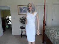 New Victoria's Secret White Ruched Sheath Dress Size S/P
