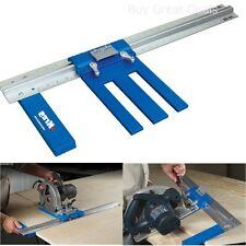Accurate Rip-Cut Circular Saw Reversible Guide Woodwork Easy Inch Rail Kreg