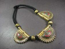 N5301 TIBETAN NAGA Brass tone Resin Bone Choker Tribal Fashion Pendant NECKLACE