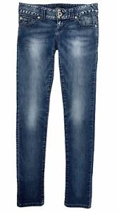 GUESS LOS ANGELES Women's DAREDEVIL Skinny Stretch Jeans Medium Wash Denim Sz 26