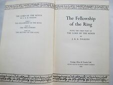THE FELLOWSHIP OF THE RING,  2nd Impression Printed in UK.1954, Map, Tolkien