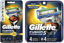 Gillette Fusion Proglide POWER Razor PLUS 4 Cartridges - FACTORY SEALED NEW