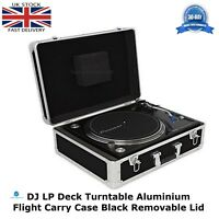 Aluminium Black Case To Fit The TECHNICS 1210 Turntable Flight DJ Removable Lid
