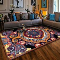 Bohemia Turkish Ethnic Style Vintage Carpet  Boho Rug Floor Mat Balcony Rug