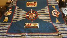 vintage quilt nautical compass ocean sail theme