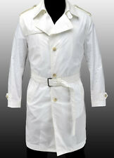 NEW HUGO BOSS Selection White Spring Summer Trench Coat Jacket Veste 40R 50 M