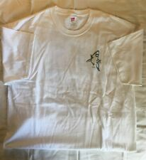 David Dunleavy Shark, Short Sleeve T-Shirt, White, XL, New
