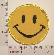 Vintage Retro Happy SMILEY FACE Mod Embroidered PATCH