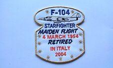 PATCH RARA f-104 STARFIGHTER MAIDEN FLIGHT RETIRED