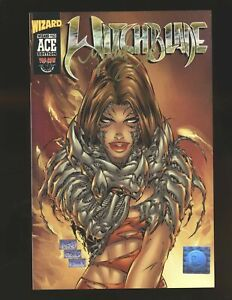 Witchblade Wizard Ace Edition # 9 (# W-63) Signed by Michael Turner NM- Cond.