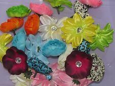 Lot of 40 mixed flowers to make crafts hair accesories tutus gifts favors decor