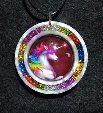 Unicorn Necklace, Unicorn Jewelry, Mythological Jewellery, Fun Colourful Pendant
