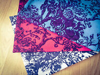 Trees in Blossom Blue, Pink & White Linen Cotton Fabric. Price per 1/2 meter