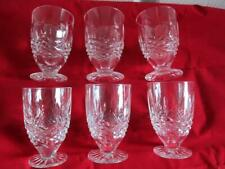 6 x Waterford Crystal Kenmare (Cut) Footed Juice Glass Glasses - 3 3/4""