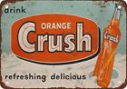 "Ylens 12"" x 16"" 1953 Drink Orange Crush Vintage Look Reproduction Metal Tin Sign"