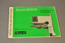 Durst M300 Owner's Manual, Original, Not a Copy!