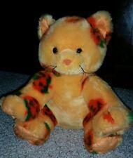 Build a bear Halloween plush cat kitten orange jack o lantern pumpkin #F8