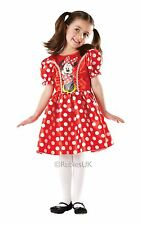 Girls Disney Red Minnie Mouse Fancy Dress Costume Child Party Outfit Age 7-8