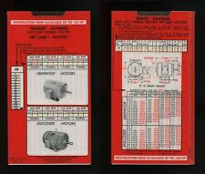 1948 ? General Electric Tri Clad Motors Slide Calculator Selector Weight Frame