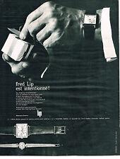 PUBLICITE ADVERTISING  1963   LIP  collection montres