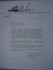 "GREEN BAY PACKERS NFL ""1944"" PLAYER'S CONTRACT AND LETTER FROM CURLEY LAMBEAU"