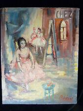 """Artist B h ken """"Ballet girl""""Oil Painting  Artist Signed"""