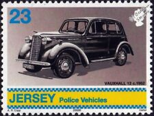 1939-1946 VAUXHALL 12-4 Police Car Vehicle Stamp (2002 Jersey)