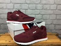 FILA MENS UK 6 EU 39.5 BURGUNDY CRESS KNIT TRAINERS