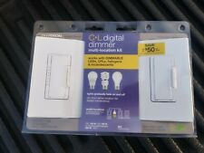 Lutron Cl Digital Dimmer Multi-Location Kit Macl-153M-Rhw-Wh Master & Companion