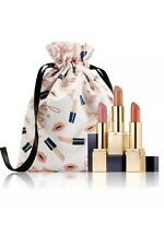 BNIB ESTEE LAUDER Sculpted Lips Pure Color Envy 3 Full Size Lipsticks with Bag
