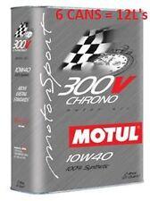 Motul 300V CHRONO 10W40 Synthetic Racing Motor Oil 6 2L Cans 103135/104243 NEW