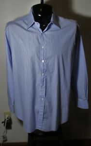 """Men's """"Made in England"""" ALFRED DUNHILL Blue Dress Shirt Size L 16.5"""