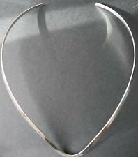 "16"" 4mm 925  Sterling Silver V-Shape Flat Necklace Choker Collar Wire Cuff"
